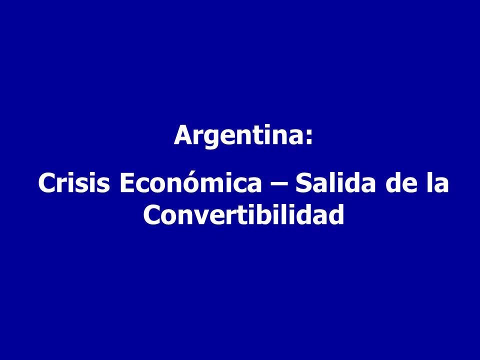 Argentina: Crisis Económica – Salida de la Convertibilidad