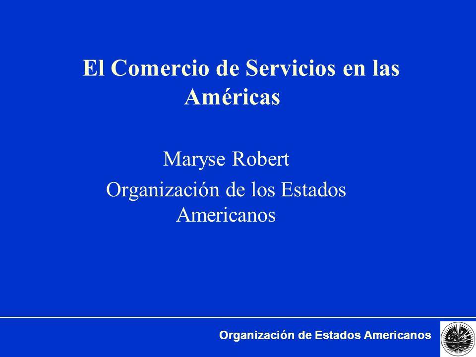 Organización de Estados Americanos Importancia de los servicios Fuente: OMC. WBI 2001