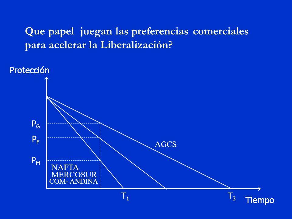 Organización de Estados Americanos Ejemplos de preferencias en Servicios Acuerdos bilaterales sobre servicios aéreos: Asignación preferencial de cuotas de producción Reducción preferencial de limitaciones a capital extranjero (ejemplo TLCAN) Reconocimiento preferencial de calificaciones extranjeras.