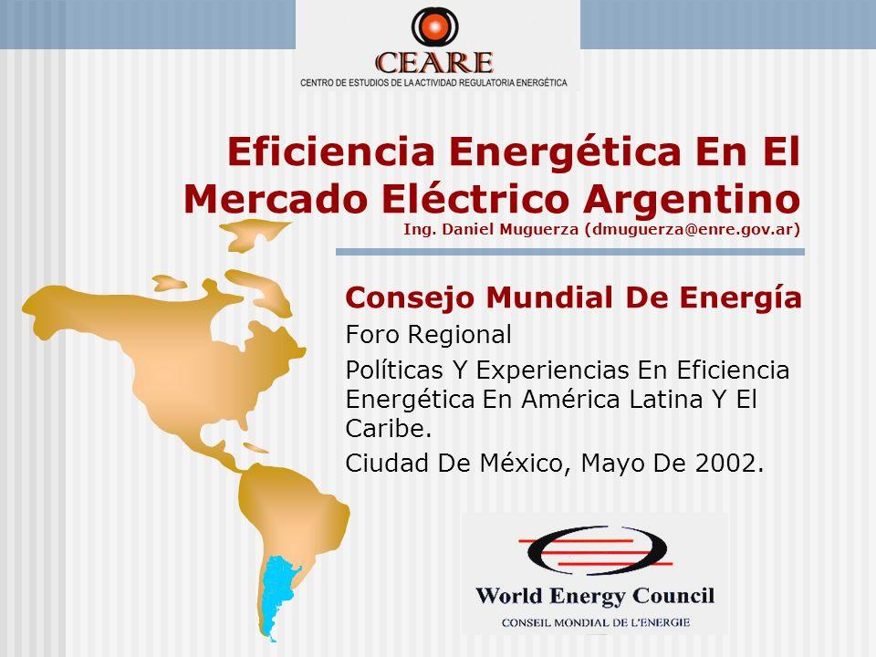 Eficiencia Energética En El Mercado Eléctrico Argentino Ing.