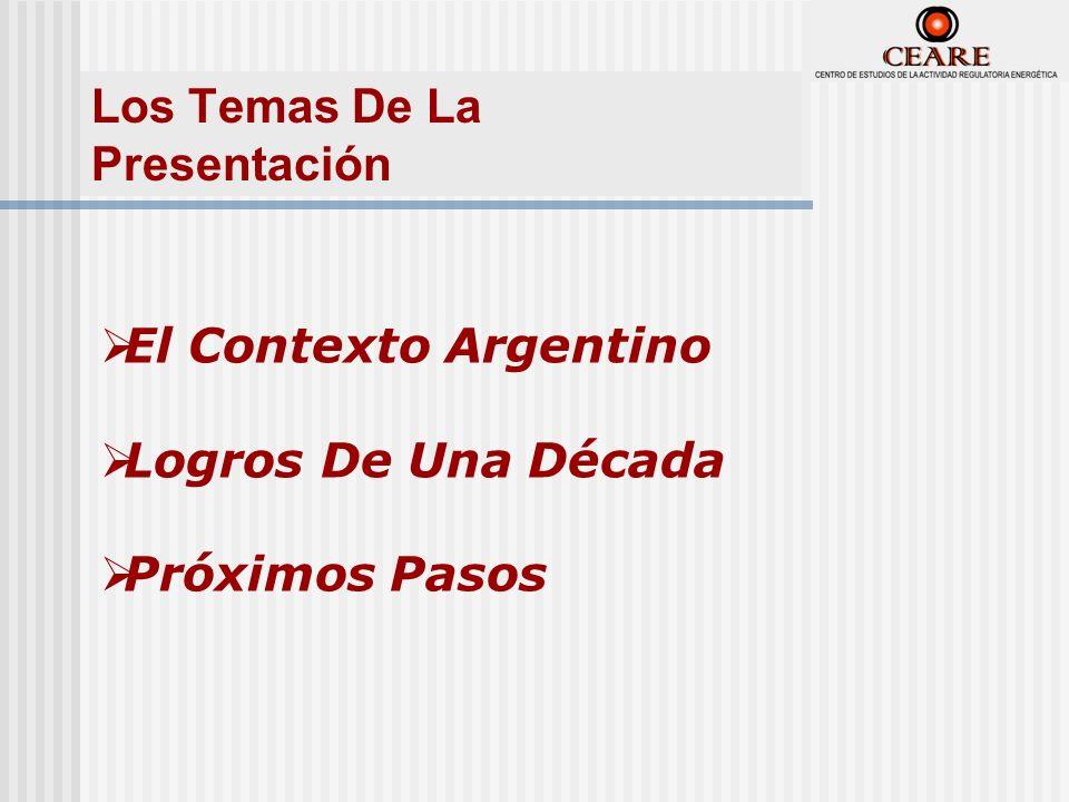 Eficiencia Energética En El Mercado Eléctrico Argentino El Contexto Argentino