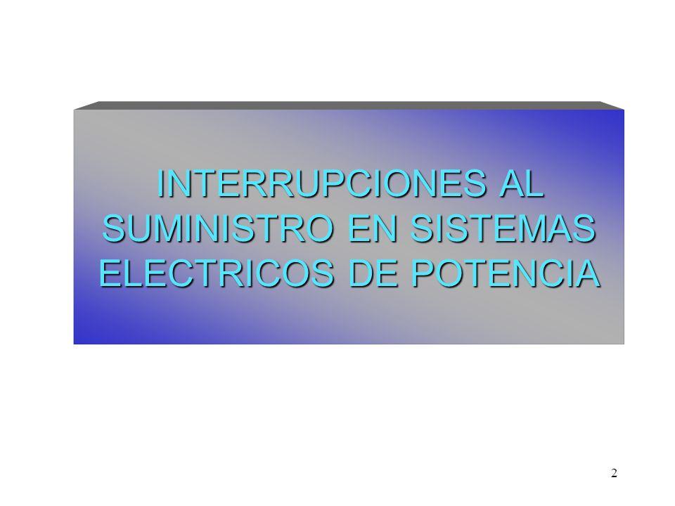 2 INTERRUPCIONES AL SUMINISTRO EN SISTEMAS ELECTRICOS DE POTENCIA