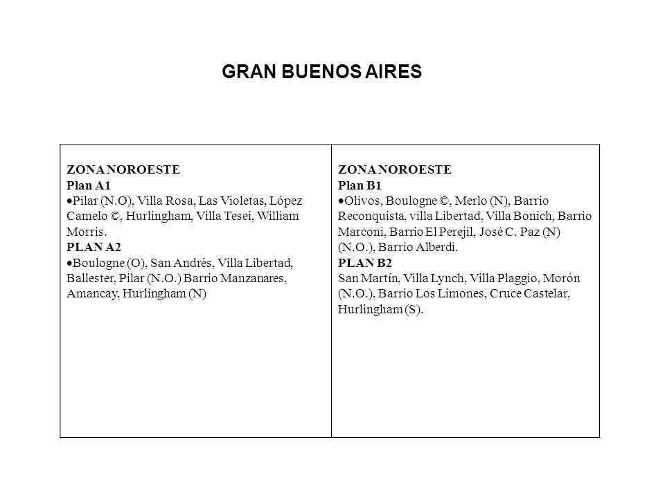 GRAN BUENOS AIRES ZONA NOROESTE Plan A1 Pilar (N.O), Villa Rosa, Las Violetas, López Camelo ©, Hurlingham, Villa Tesei, William Morris.