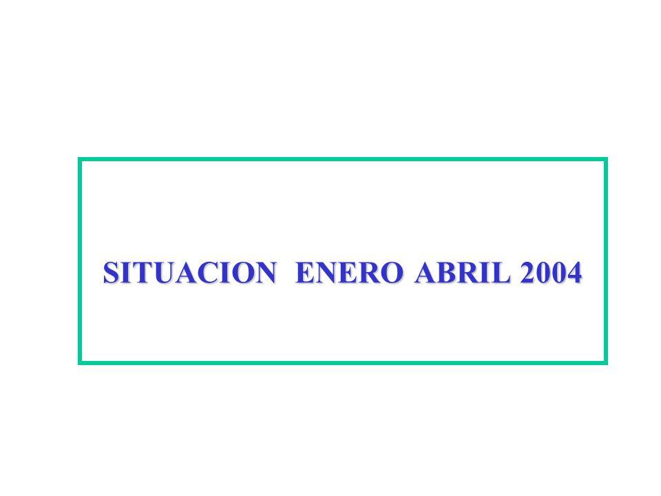 SITUACION ENERO ABRIL 2004