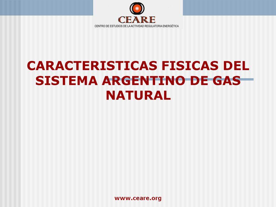 www.ceare.org CARACTERISTICAS FISICAS DEL SISTEMA ARGENTINO DE GAS NATURAL