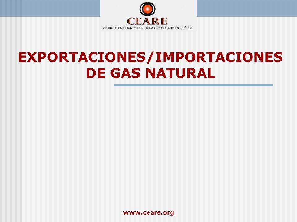 www.ceare.org EXPORTACIONES/IMPORTACIONES DE GAS NATURAL