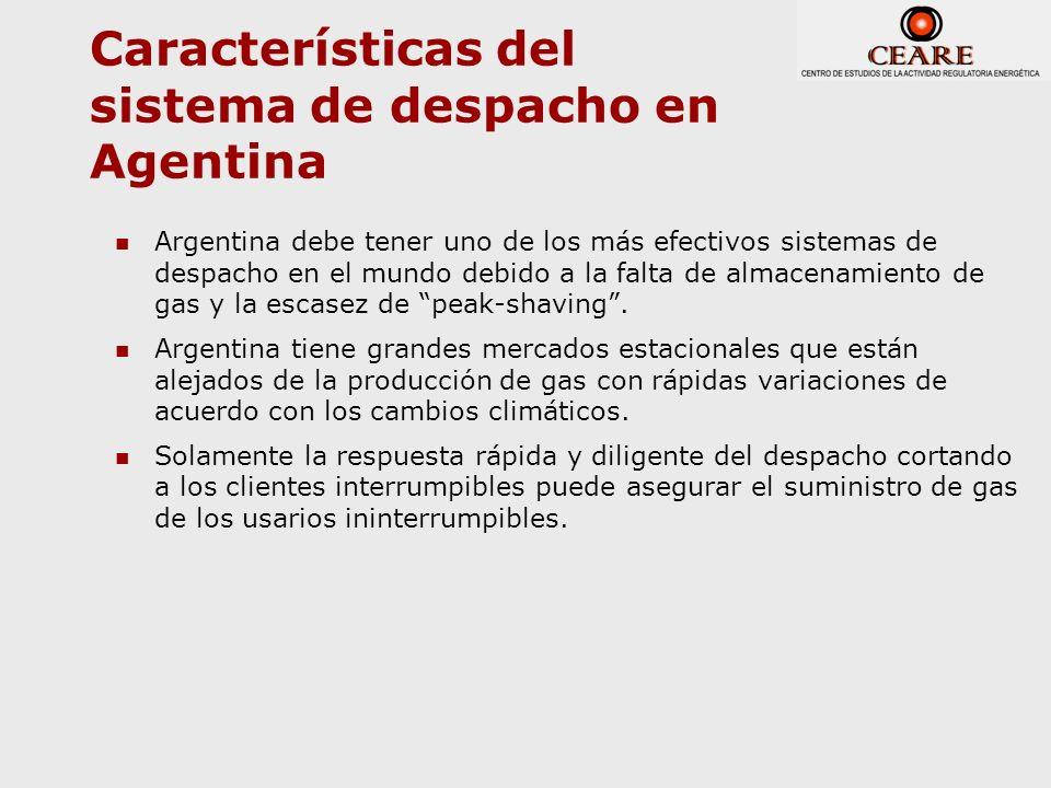 Características del sistema de despacho en Agentina Argentina debe tener uno de los más efectivos sistemas de despacho en el mundo debido a la falta d