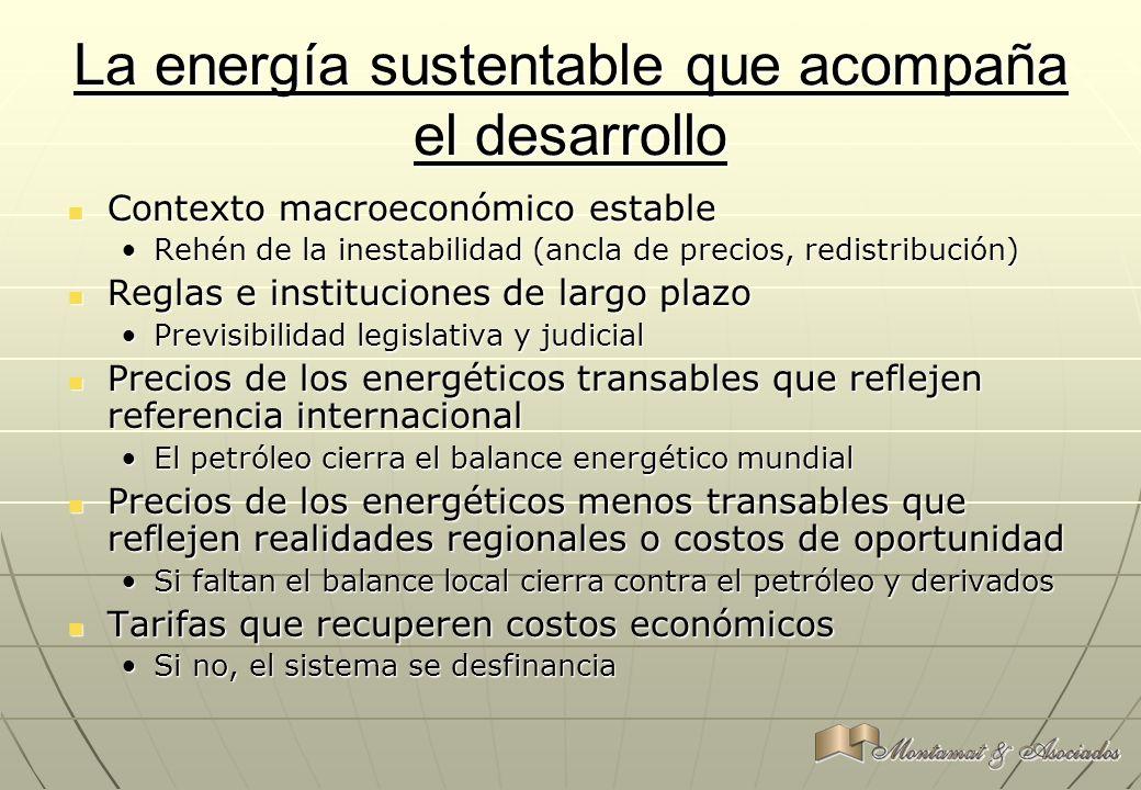 La energía sustentable que acompaña el desarrollo Contexto macroeconómico estable Contexto macroeconómico estable Rehén de la inestabilidad (ancla de