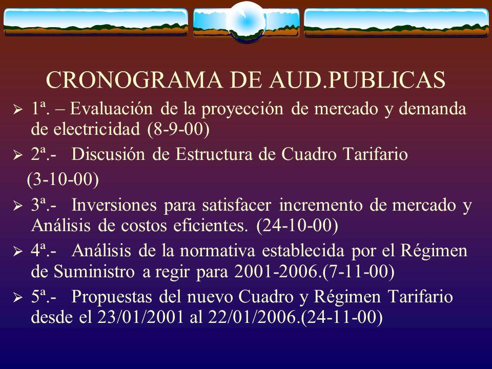 CRONOGRAMA DE AUD.PUBLICAS 1ª.