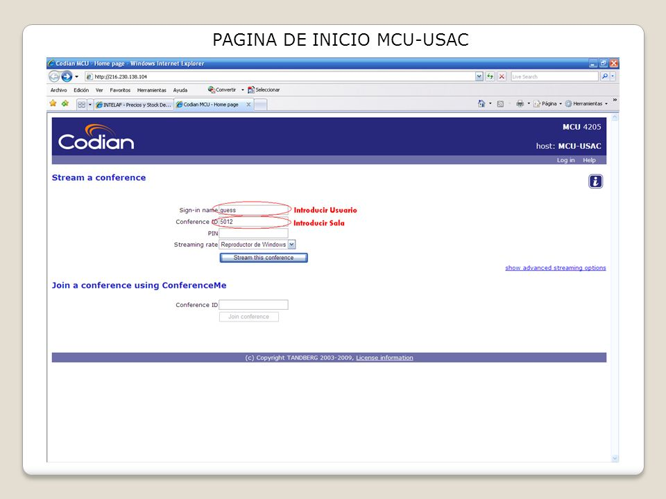 PAGINA DE INICIO MCU-USAC
