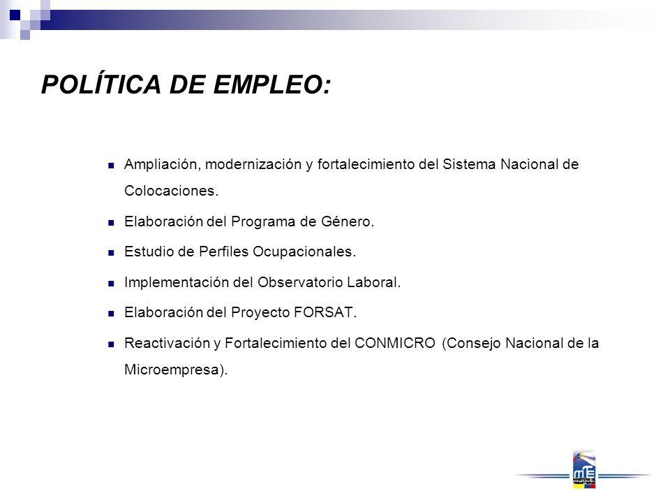 POLÍTICA DE CAPACITACIÓN Y FORMACIÓN PROFESIONAL: Institucionalización de la Comisión de Aseguramiento de la Calidad de la Capacitación.