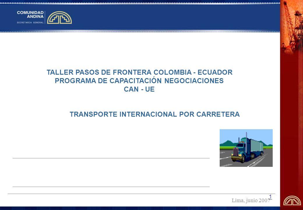2 ESQUEMA DE LA EXPOSICIÓN La Comunidad Andina y el Sistema Andino de Integración El Ordenamiento Jurídico de la CAN Los Comités Técnicos Andinos de Autoridades Sectoriales.
