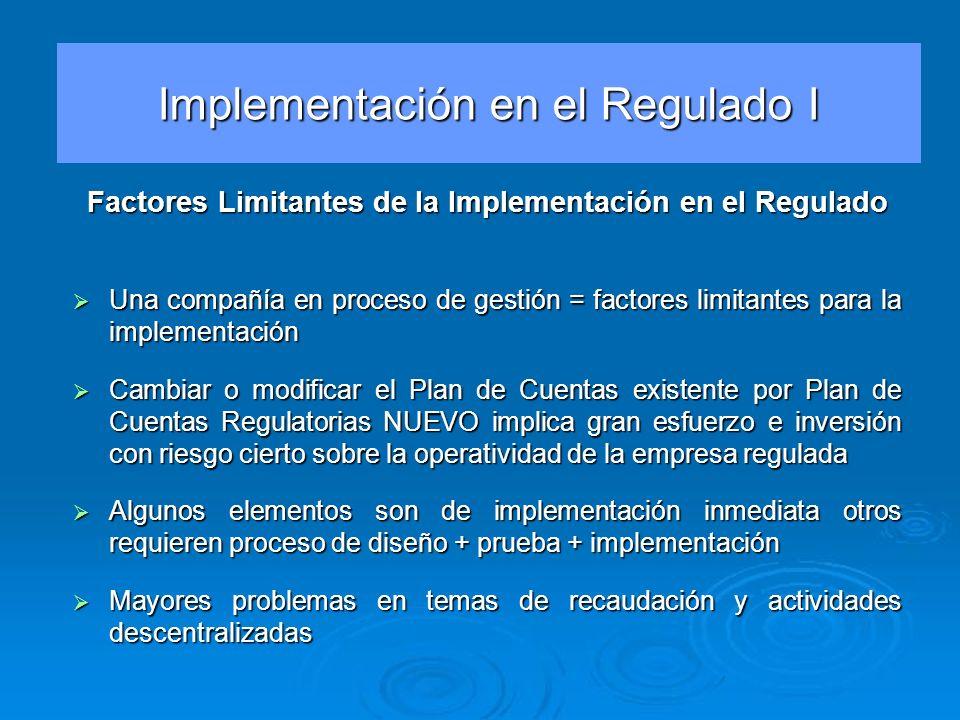 Una compañía en proceso de gestión = factores limitantes para la implementación Una compañía en proceso de gestión = factores limitantes para la imple