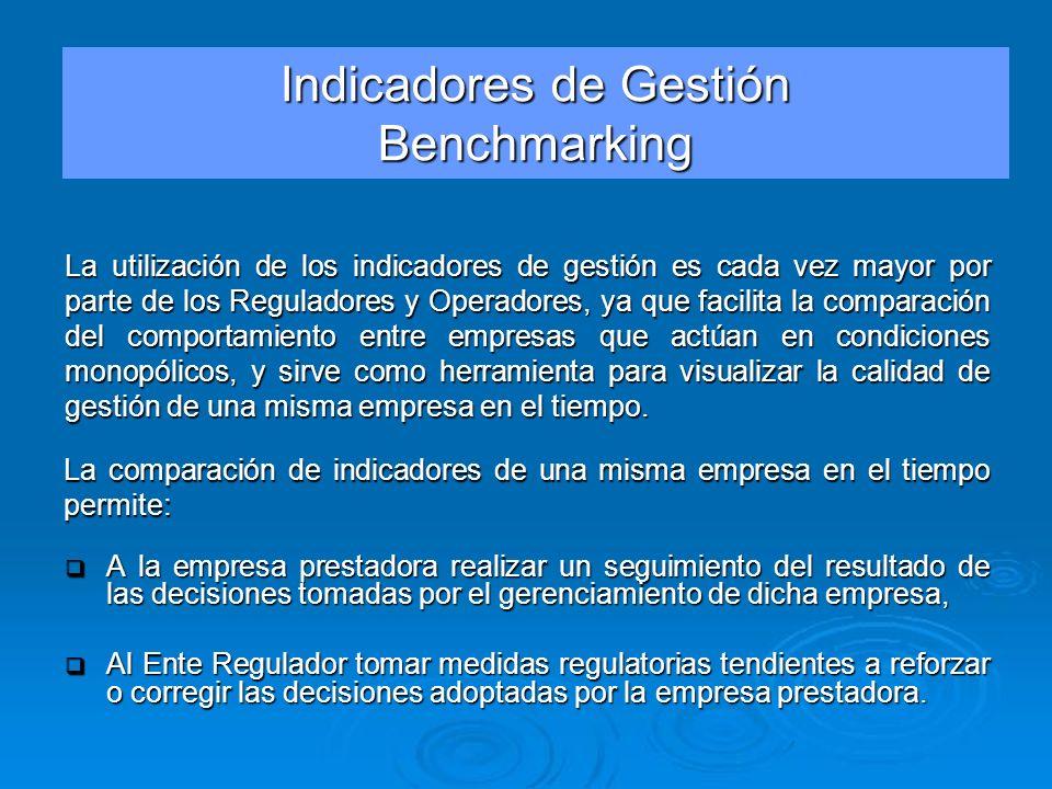 La comparación de indicadores de una misma empresa en el tiempo permite: A la empresa prestadora realizar un seguimiento del resultado de las decision
