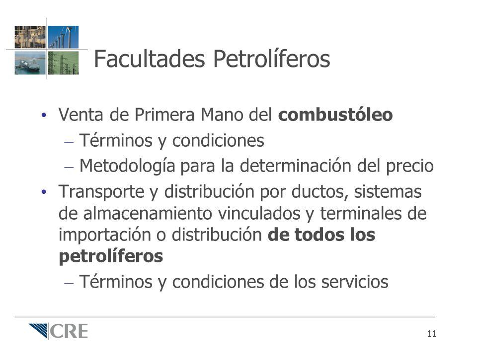 Facultades Petrolíferos Venta de Primera Mano del combustóleo – Términos y condiciones – Metodología para la determinación del precio Transporte y dis