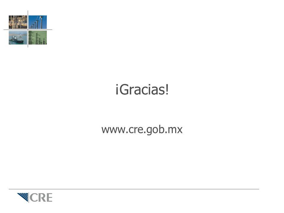 ¡Gracias! www.cre.gob.mx