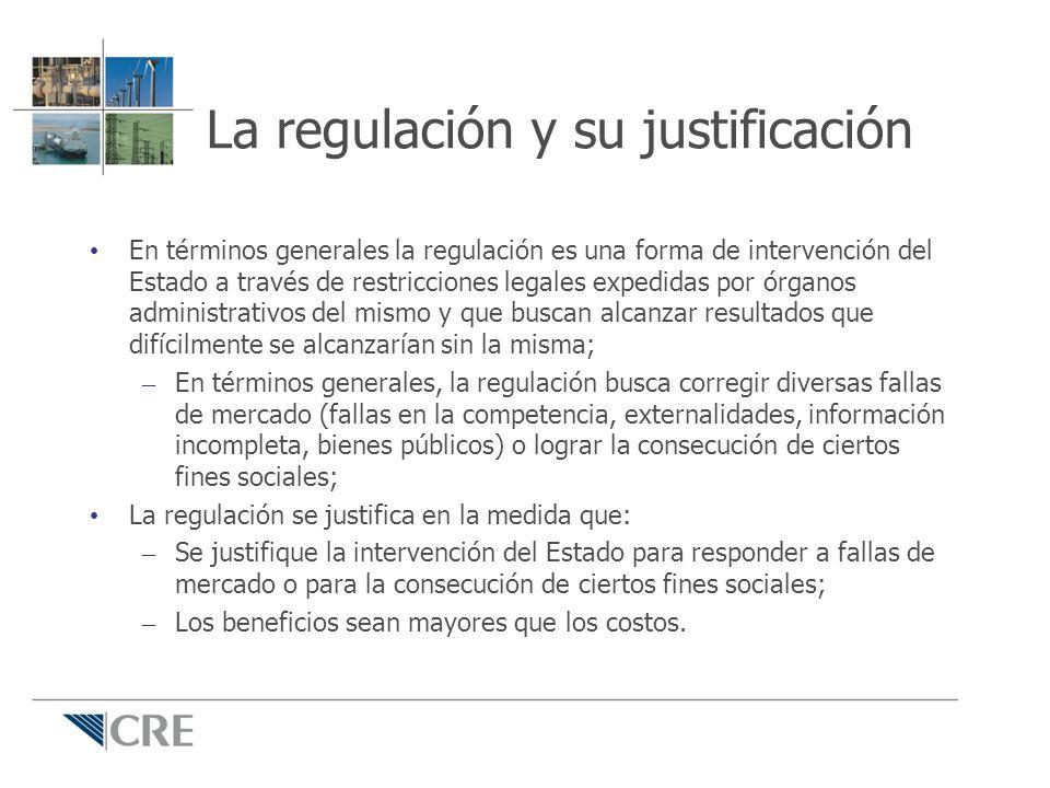 La regulación y su justificación En términos generales la regulación es una forma de intervención del Estado a través de restricciones legales expedid