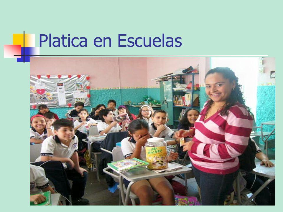 Platica en Escuelas