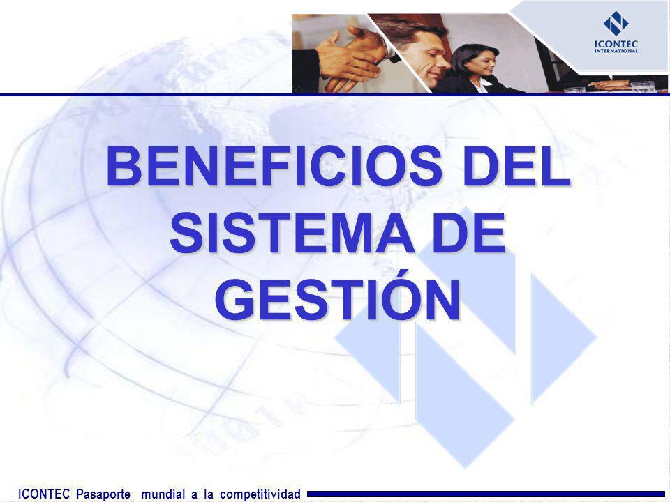ICONTEC Pasaporte mundial a la competitividad BENEFICIOS DEL SISTEMA DE GESTIÓN