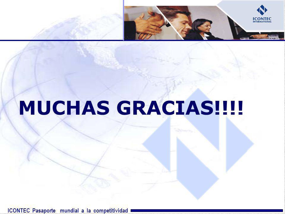 ICONTEC Pasaporte mundial a la competitividad MUCHAS GRACIAS!!!!