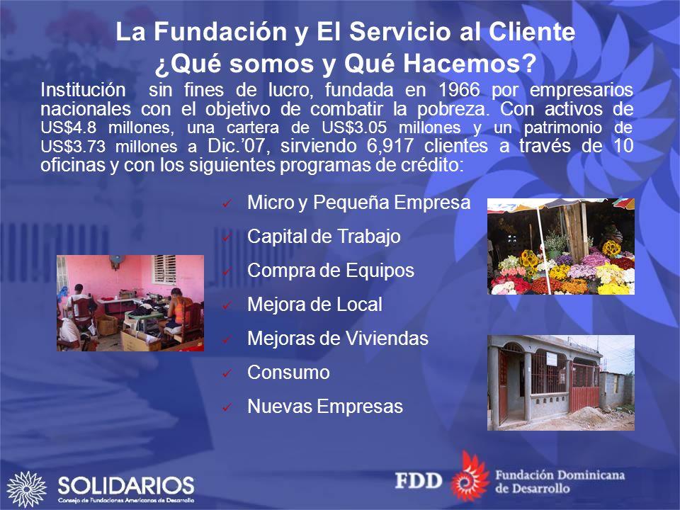 Institución sin fines de lucro, fundada en 1966 por empresarios nacionales con el objetivo de combatir la pobreza.