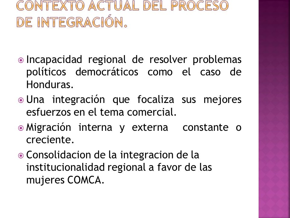 Incapacidad regional de resolver problemas políticos democráticos como el caso de Honduras.
