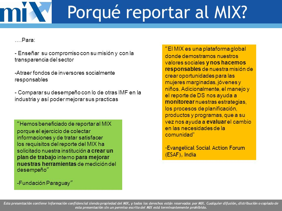This presentation is the proprietary and/or confidential information of MIX, and all rights are reserved by MIX.