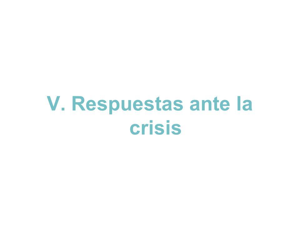V. Respuestas ante la crisis