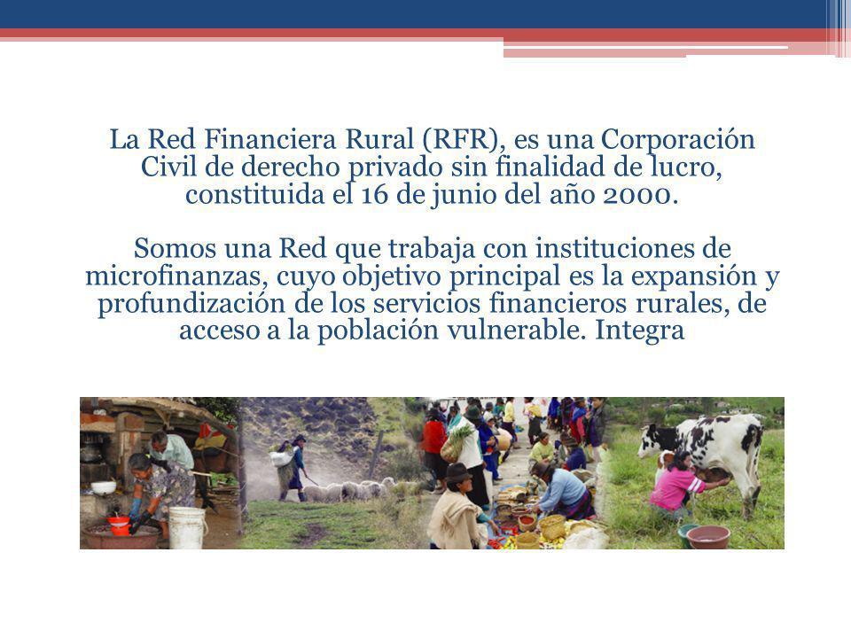 43 miembros a nivel nacional -Cooperativas de ahorro y Crédito -Bancos especializados en microfinanzas -ONG con metología de crédito -ONG apoyo