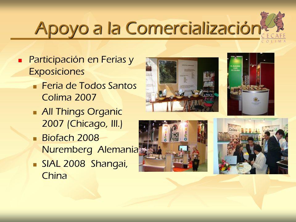 Apoyo a la Comercialización Participación en Ferias y Exposiciones Feria de Todos Santos Colima 2007 All Things Organic 2007 (Chicago, Ill.) Biofach 2