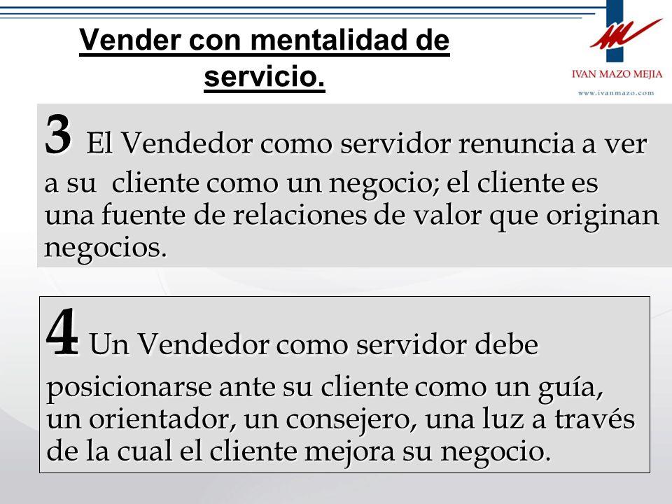 Vender con mentalidad de servicio 1 Para que el servicio mantenga su autenticidad es necesario despojarlo del sentido mercantilista o de negocio 2 Ser