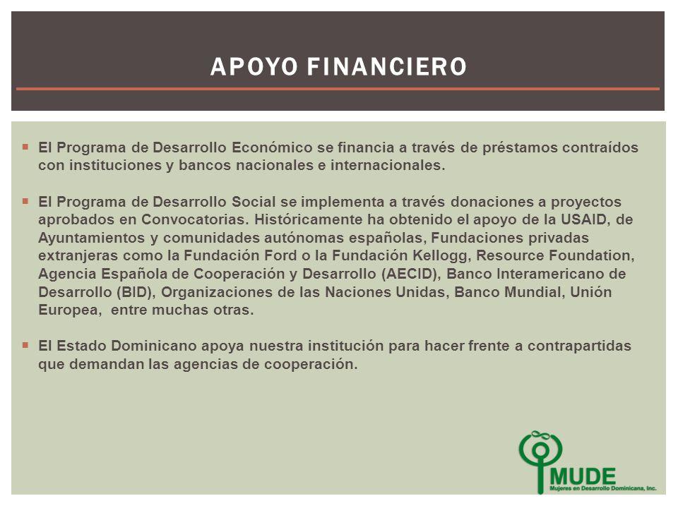 El Programa de Desarrollo Económico se financia a través de préstamos contraídos con instituciones y bancos nacionales e internacionales.