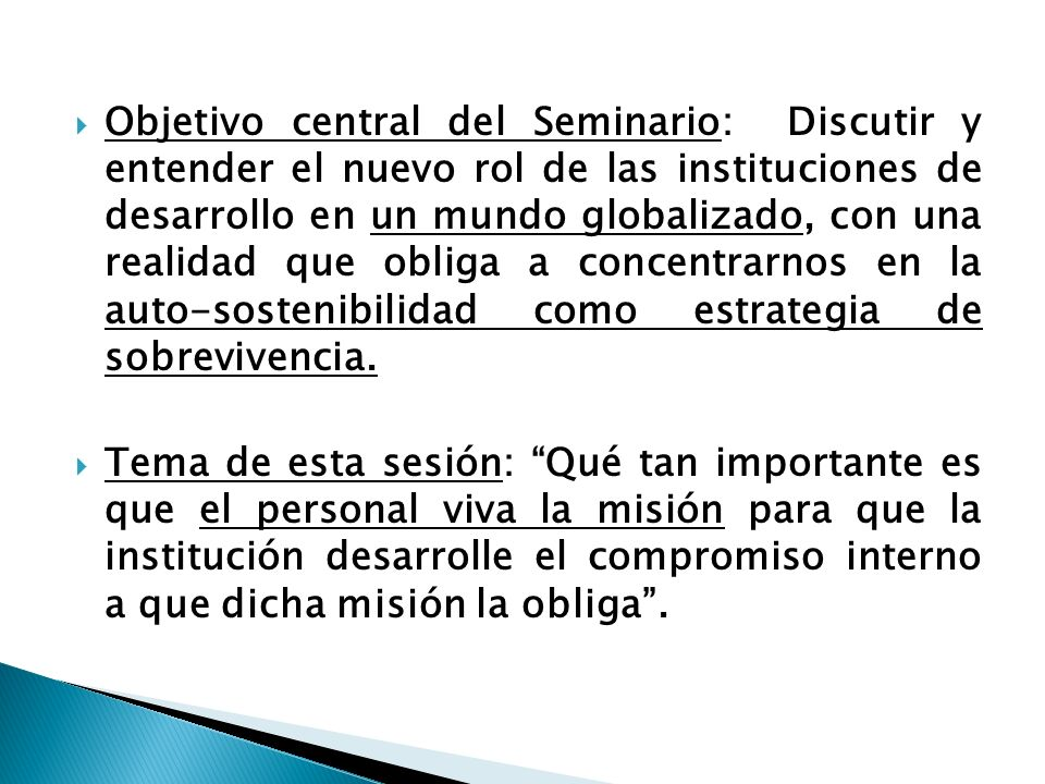 SOLIDARIOS CONSEJO DE FUNDACIONES AMERICANAS DE DESARROLLO XI SEMINARIO INTERNACIONAL VIVIR LA MISION: UNICA ESTRATEGIA DE EXITO PARA LAS INSTITUCIONE
