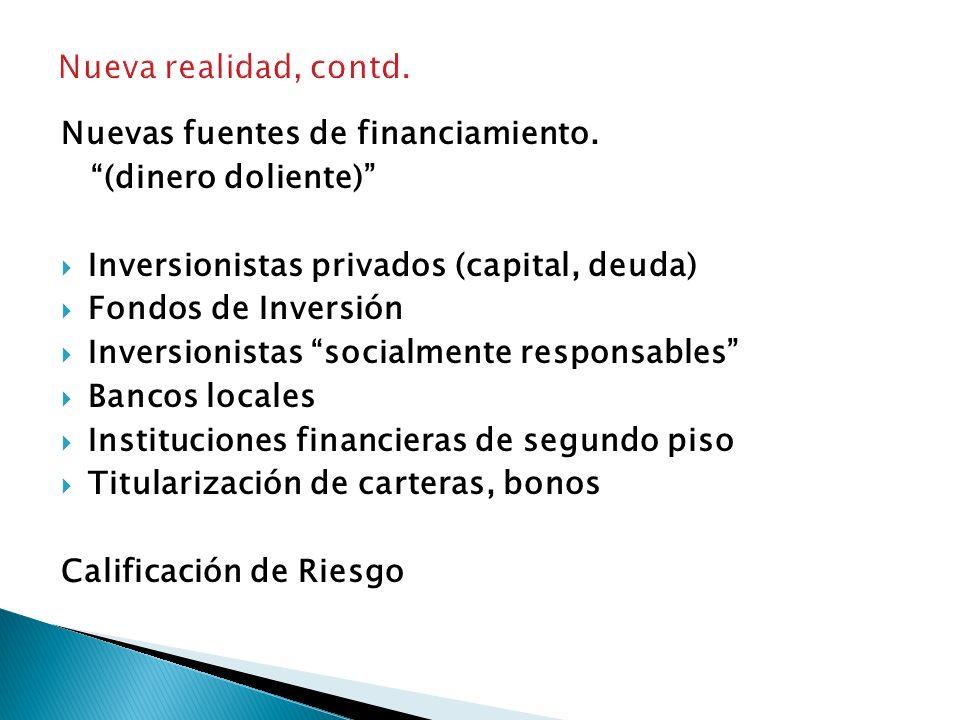 REALIDAD ACTUAL: NUEVO CONTEXTO Concepto de Visión y Misión acorde a definiciones del mundo empresarial. -Rentabilidad -Seguridad para la inversión -G