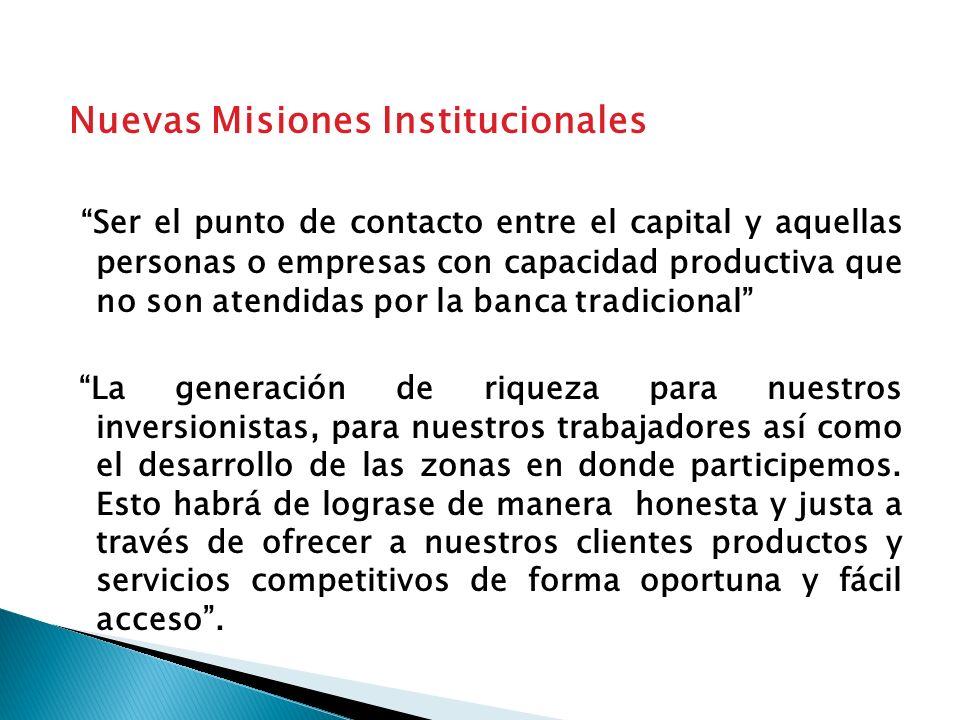 Nuevas fuentes de financiamiento. (dinero doliente) Inversionistas privados (capital, deuda) Fondos de Inversión Inversionistas socialmente responsabl