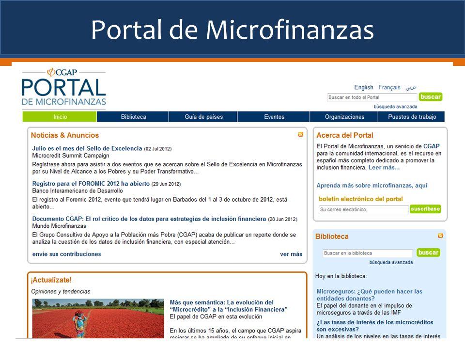 Portal de Microfinanzas