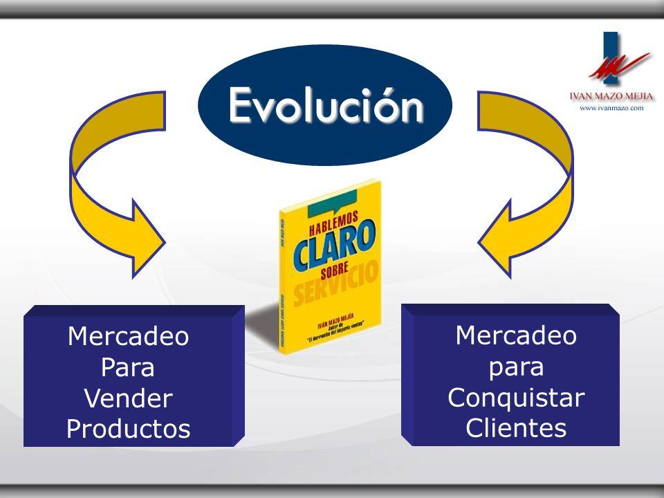 Evolución Mercadeo Para Vender Productos Mercadeo para Conquistar Clientes