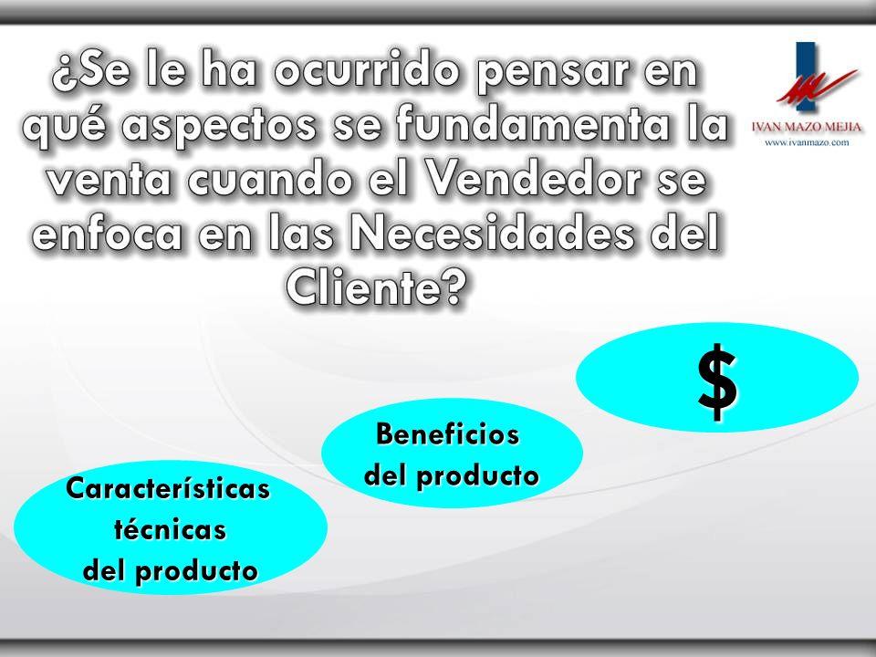 Característicastécnicas del producto Beneficios $