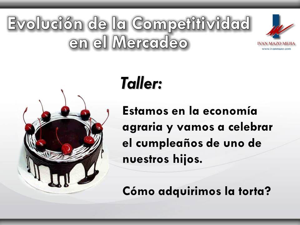 Taller: Estamos en la economía agraria y vamos a celebrar el cumpleaños de uno de nuestros hijos. Cómo adquirimos la torta?