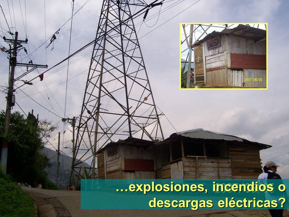 …explosiones, incendios o descargas eléctricas?