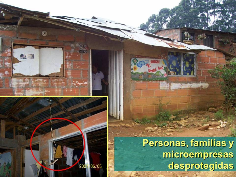 Personas, familias y microempresas desprotegidas