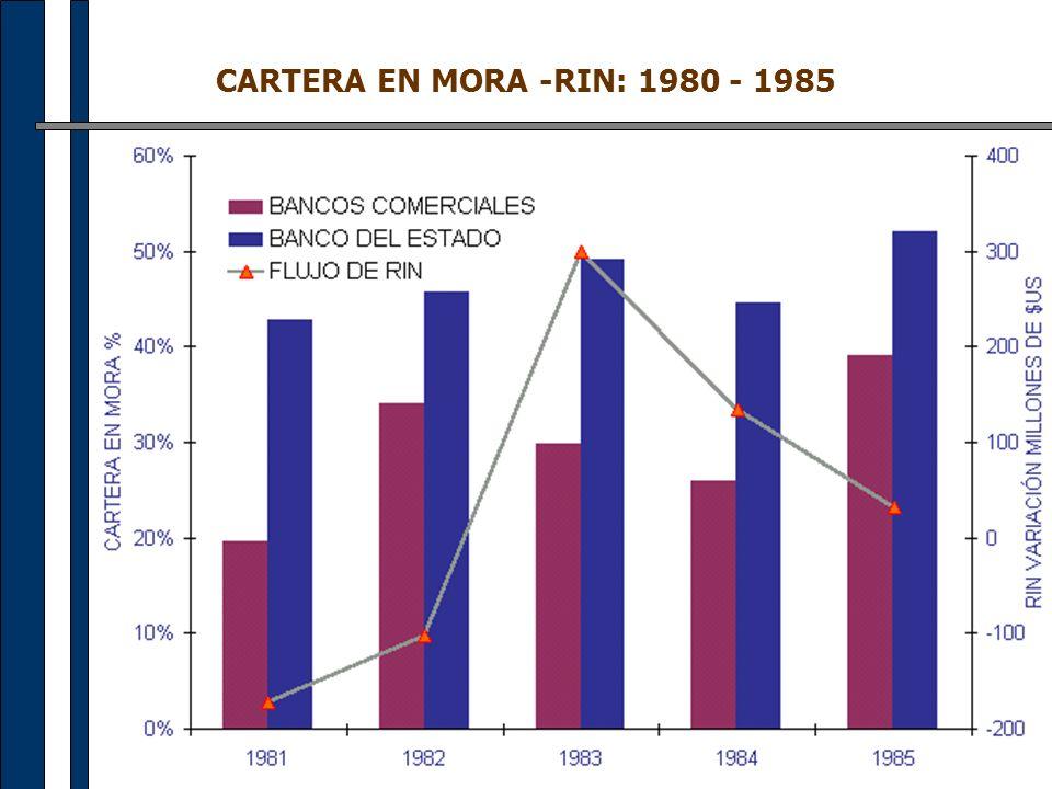 CARTERA EN MORA -RIN: 1980 - 1985