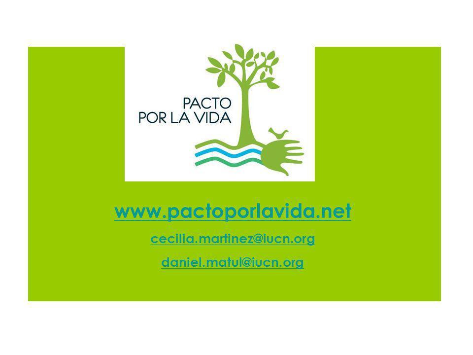 www.pactoporlavida.net cecilia.martinez@iucn.org daniel.matul@iucn.org