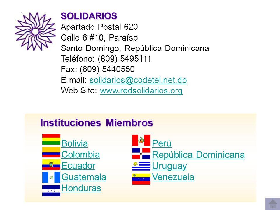 BOLIVIA Centro para el Desarrollo Social y Económico - DESEC Centro para el Desarrollo Social y Económico - DESEC Casilla 1420, Av.