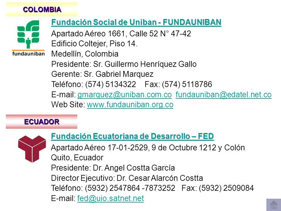 GUATEMALA Fundación del Centavo - FUNDACEN Fundación del Centavo - FUNDACEN Apartado Postal 2211, 8a Calle 5 – 09 Zona 9, C.P.