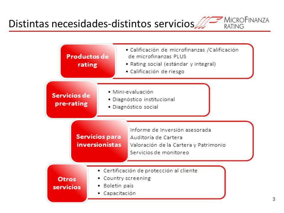 3 Distintas necesidades-distintos servicios