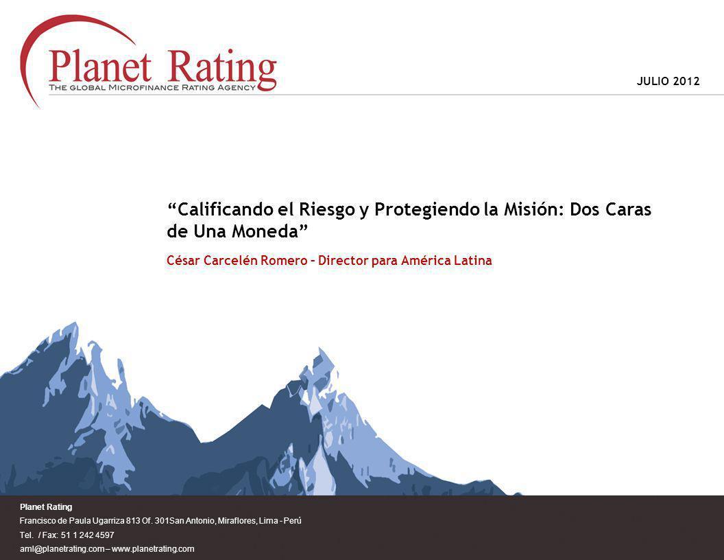 Planet Rating Francisco de Paula Ugarriza 813 Of.301San Antonio, Miraflores, Lima - Perú Tel.