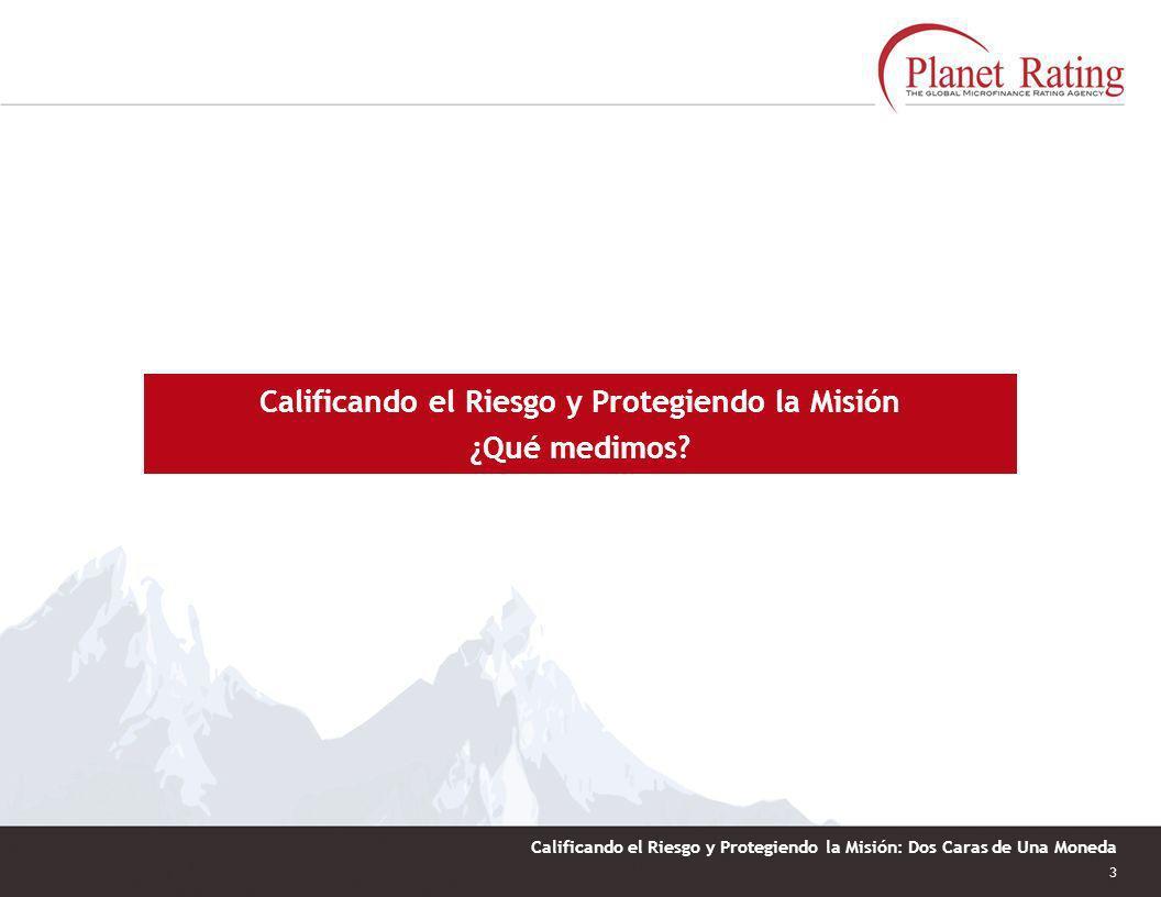 2 Calificando el Riesgo y Protegiendo la Misión: Dos Caras de Una Moneda Planet Rating: 123 IMFs calificadas en 16 países en LAC México 27 IMFs Brasil