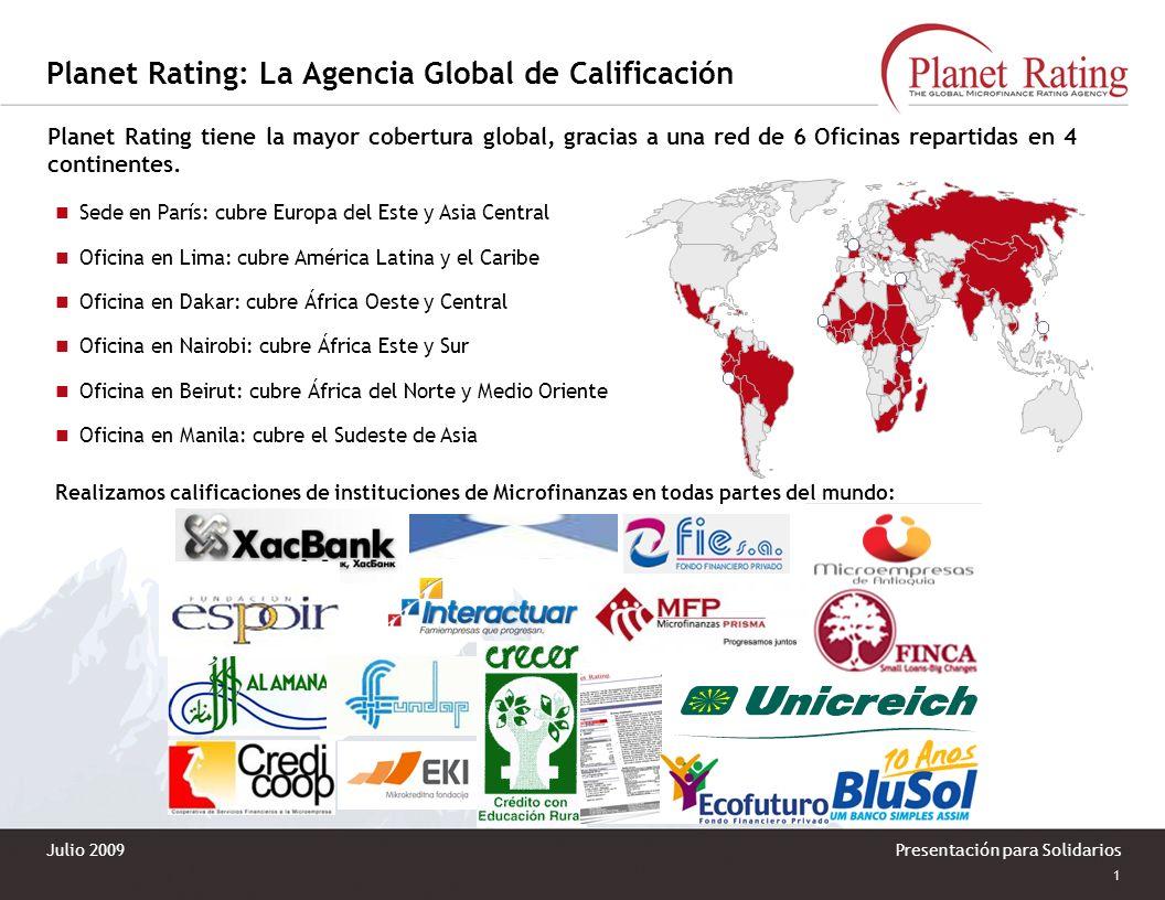 Planet Rating – Latinoamérica y el Caribe Francisco de Paula Ugarriza 813 Of. 301San Antonio, Miraflores, Lima - Perú Tel. / Fax: 51 1 242 4597 aml@pl