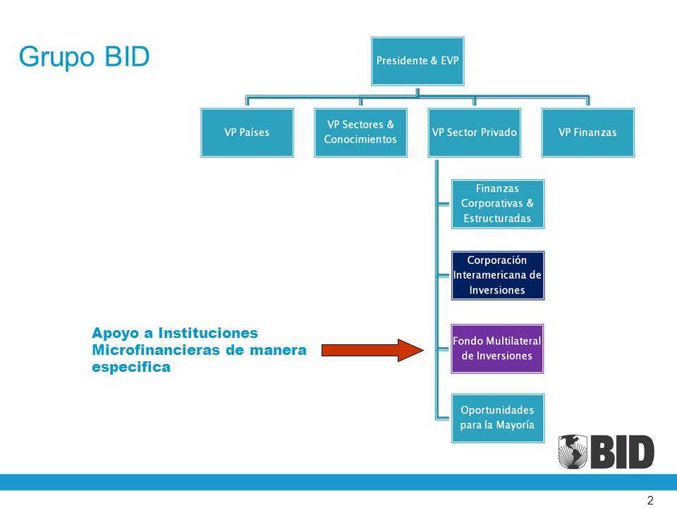 2 Grupo BID Apoyo a Instituciones Microfinancieras de manera especifica
